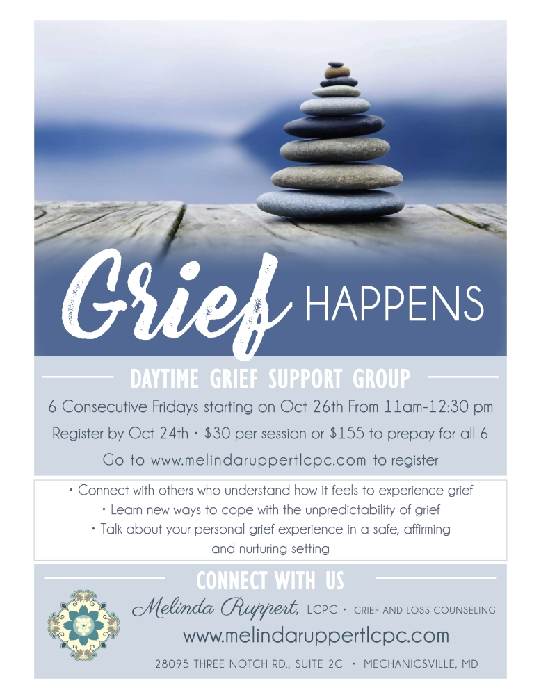 Daytime Grief Happens Flyer