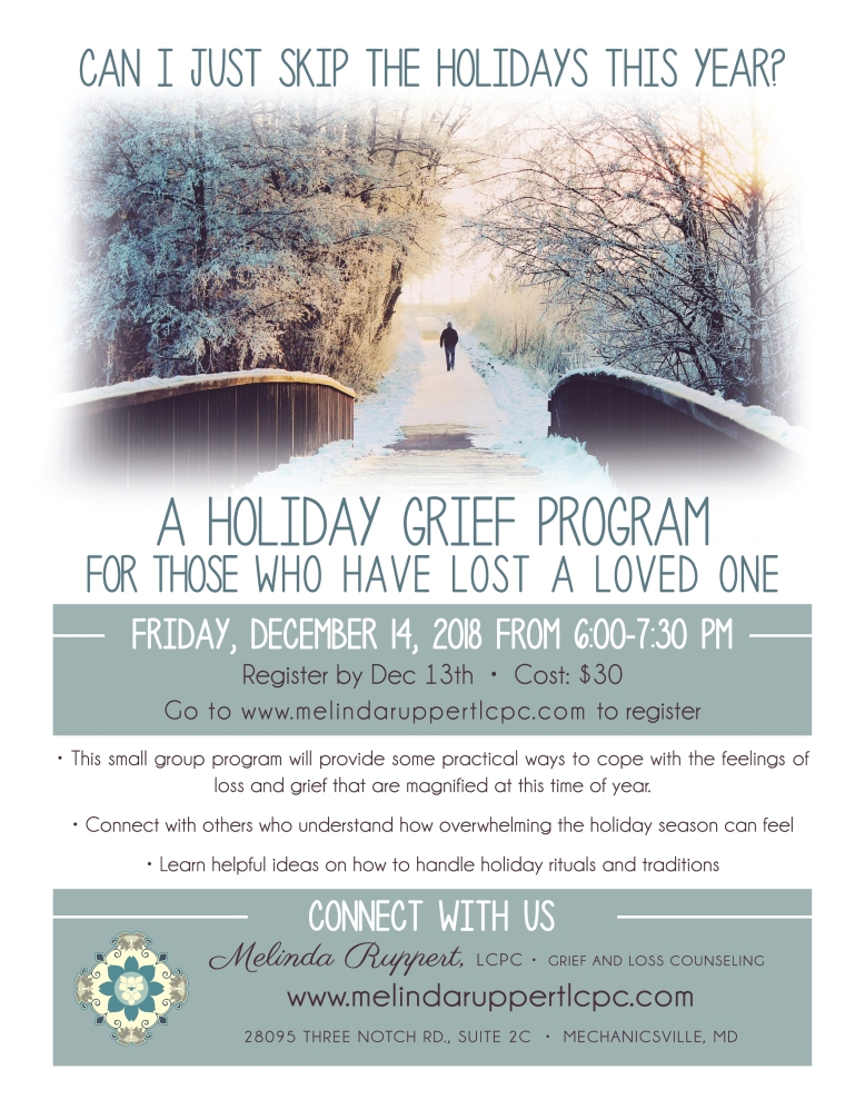 Holiday Grief Flyer