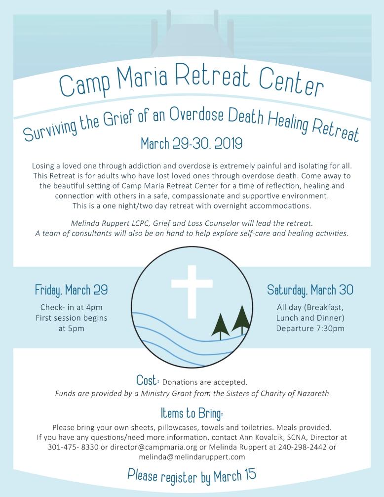 Camp Maria Healing Retreat Flyer