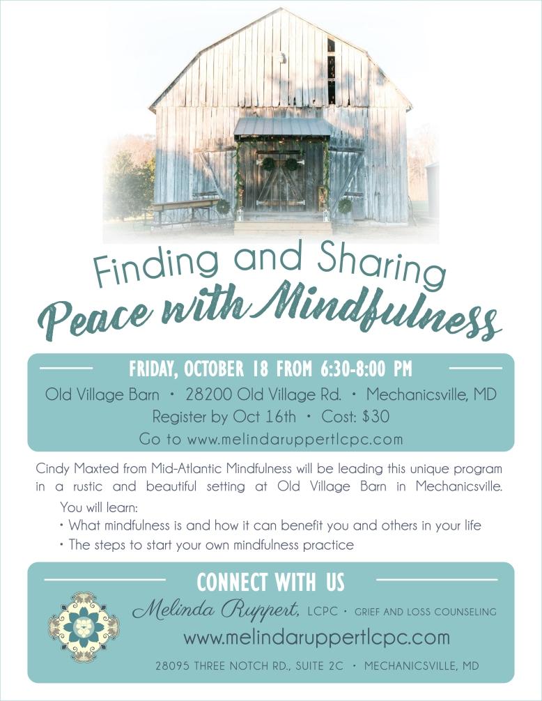 Mindfulness and Meditation Flyer2