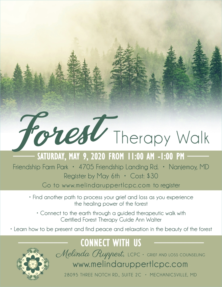 Forest Therapy Walk Flyer PRINT